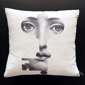 FORNASETTI Rare $225 White Key Throw Pillow